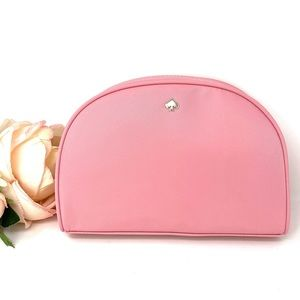 Kate♠️Spade Medium Dome Cosmetic Canvas Bag Pink W